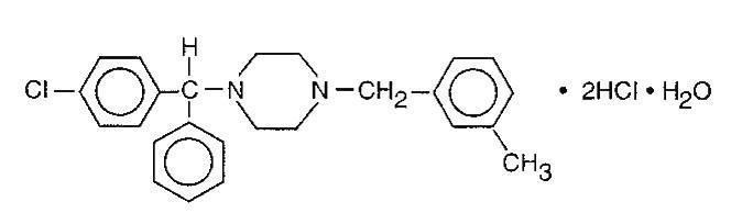 Chemical Stucture-Meclizine Hydrochloride