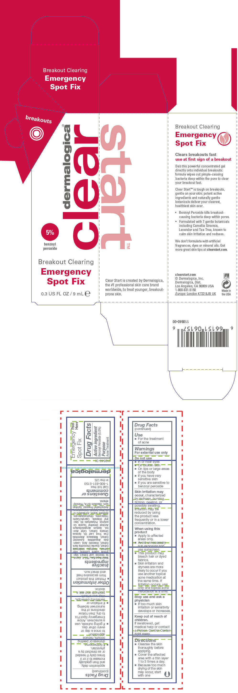 Breakout Clearing Emergency Spot Fix (Benzoyl Peroxide) Lotion [Dermalogica, Inc.]