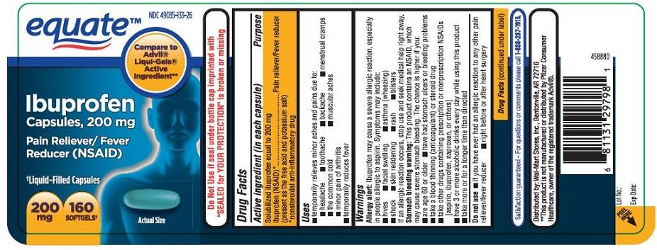 Equate Ibuprofen (Ibuprofen) Capsule, Liquid Filled [Walmart Stores Inc]
