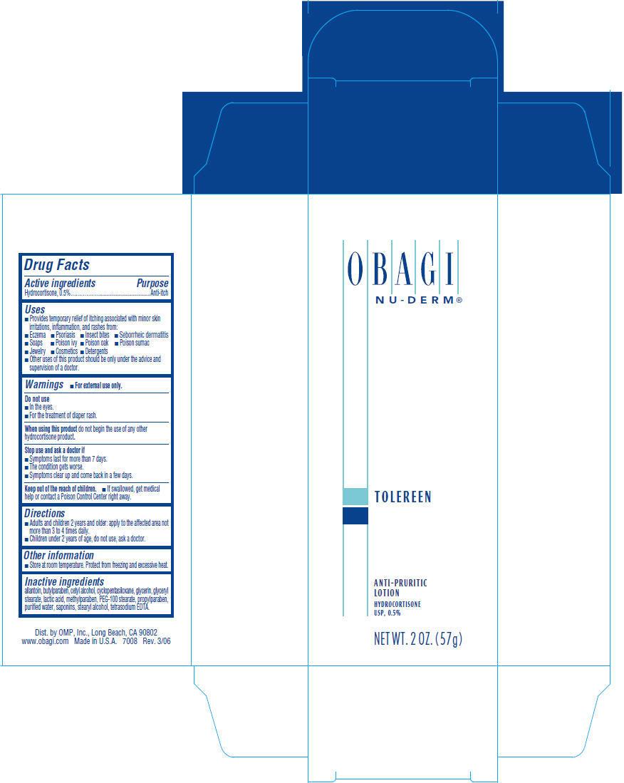Nu-derm Tolereen (Hydrocortisone) Lotion [Omp, Inc.]