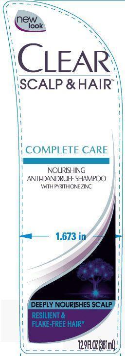 Clear Complete Care Nourishing Antidandruff (Pyrithione Zinc) Shampoo [Conopco Inc. D/b/a Unilever]