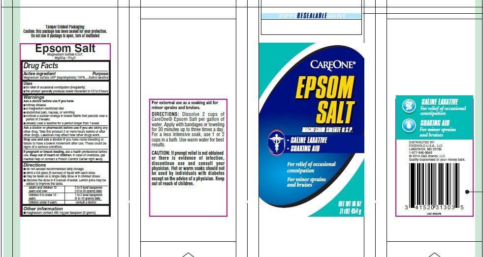 Epsom Salt (Magnesium Sulfate) Granule, For Solution [Foodhold U.s.a., Llc]