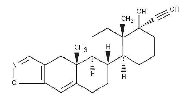 Danazol Molecular Structure