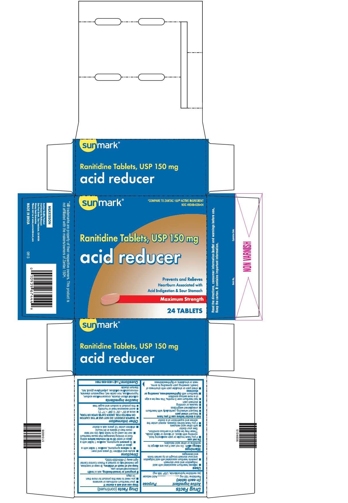Acid Reducer (Ranitidine) Tablet [Mckesson]