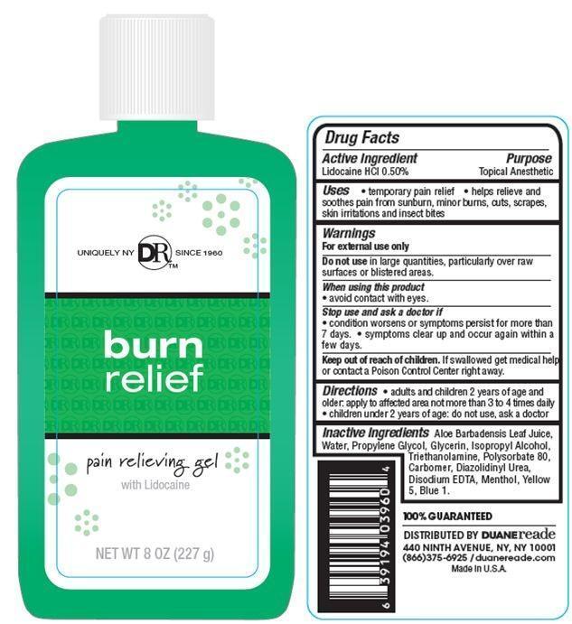 Duane Reade Burn Relief Pain Relieving Gel (Lidocaine Hydrochloride) Gel [Duane Reade Inc.]