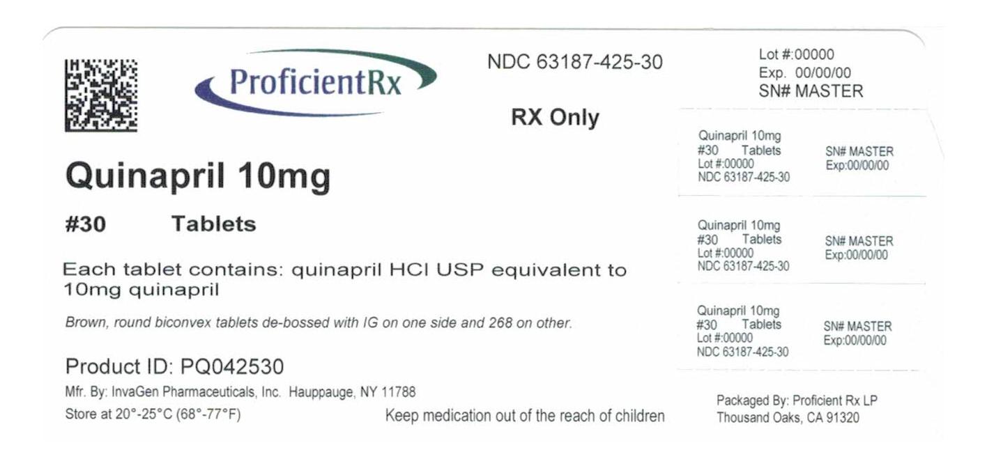 Quinapril Tablet [Proficient Rx Lp]