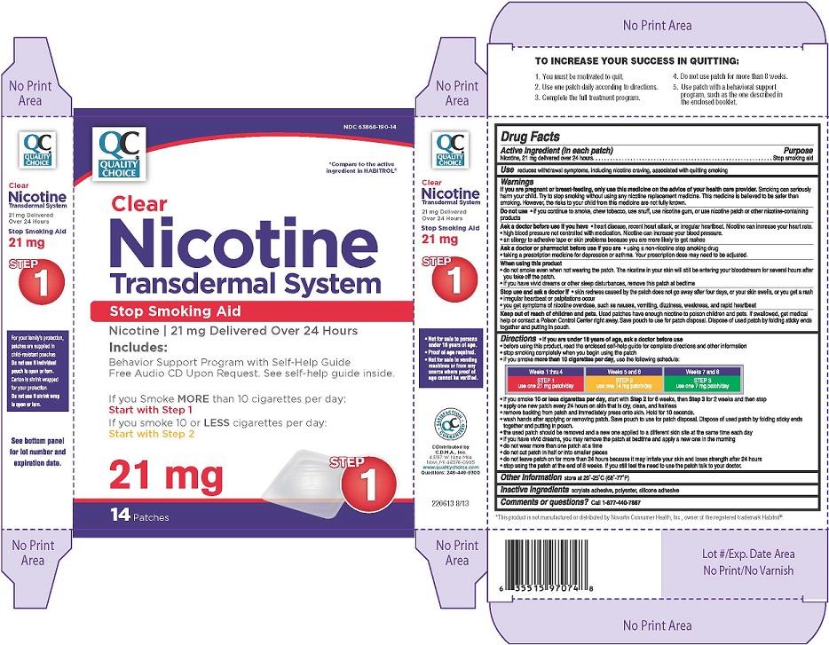 Nicotine Transdermal System Step 1 (Nicotine) Patch, Extended Release Nicotine Transdermal System Step 2 (Nicotine) Patch, Extended Release [Chain Drug Marketing Association Inc.]