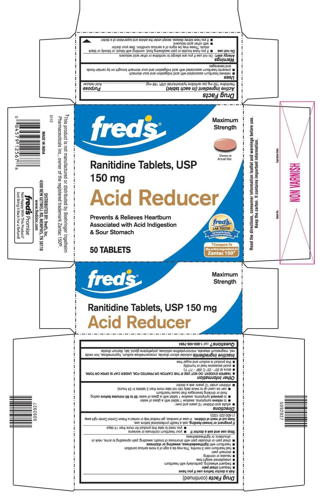 Acid Reducer (Ranitidine) Tablet [Fred's Inc.]