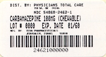 image of 100mg chewable package label
