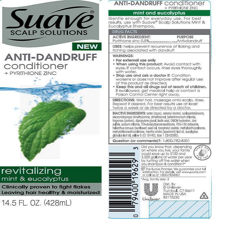 Suave Revitalizing Mint And Eucalyptus Antidandruff Conditioner (Pyrithione Zinc) Suspension [Conopco Inc. D/b/a Unilever]