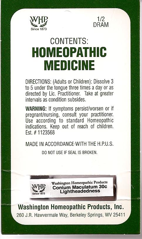 Conium Maculatum Kit Refill (Conium Maculatum Flowering Top) Pellet [Washington Homeopathic Products]