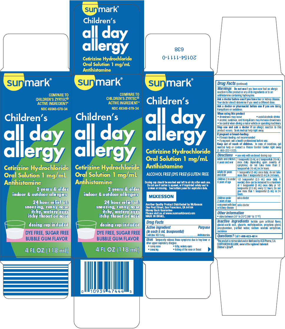 Childrens All Day Allergy (Cetirizine Hydrochloride) Solution [Mckesson]