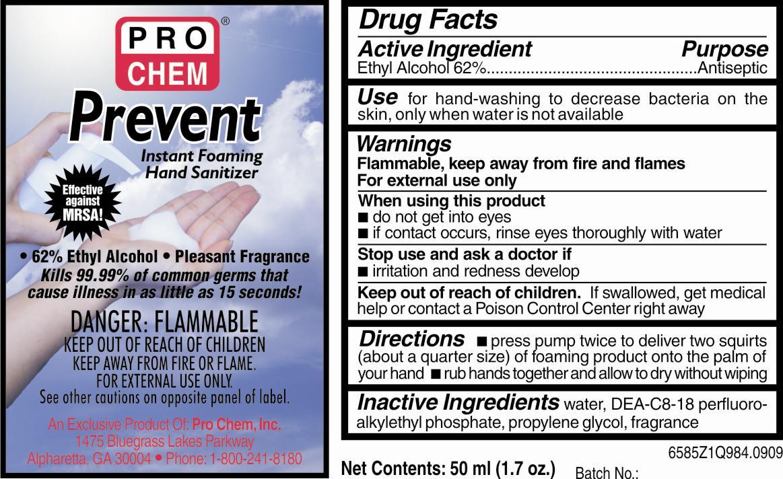 Prevent (Alcohol) Liquid [Pro Chem, Incorporated]