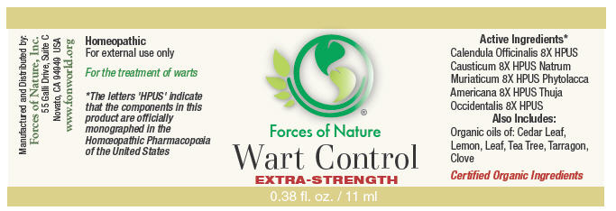 Wart Control (Calendula Officinalis Flowering Top, Causticum, Phytolacca Americana Root, Thuja Occidentalis Leafy Twig, And Sodium Chloride) Solution/ Drops [Forces Of Nature]