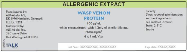 Allergenic Extract Wasp Venom Protein  100 µg/mL 6 x 1 mL Vials Rx Only