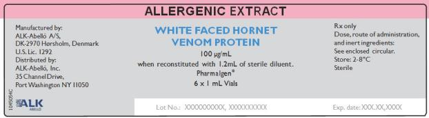 Allergenic Extract White Faced Hornet Venom Protein 100 µg/mL 6 x 1 mL Vials Rx Only