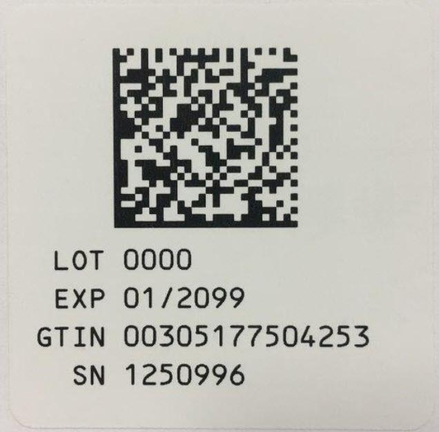 Serialization Label - 4 mL (10%)