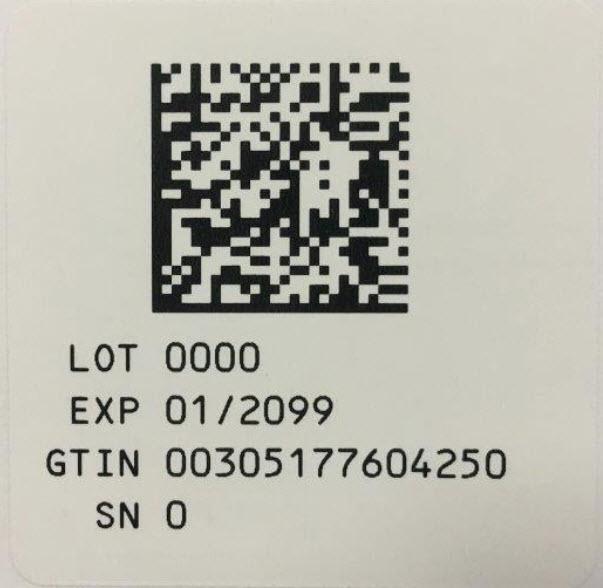 Serialization Label - 4 mL (20%)