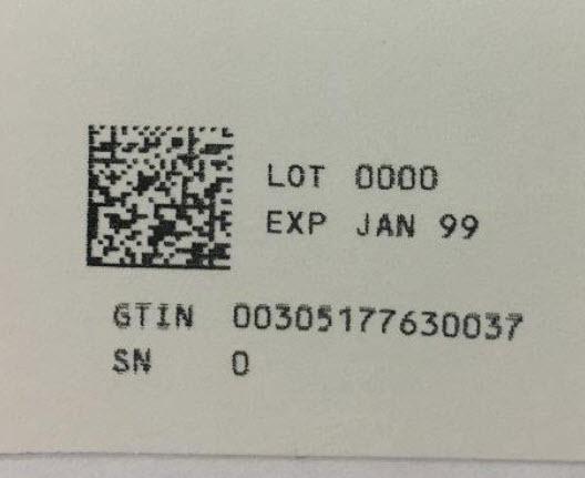 Serialization Label - 30 mL (20%)