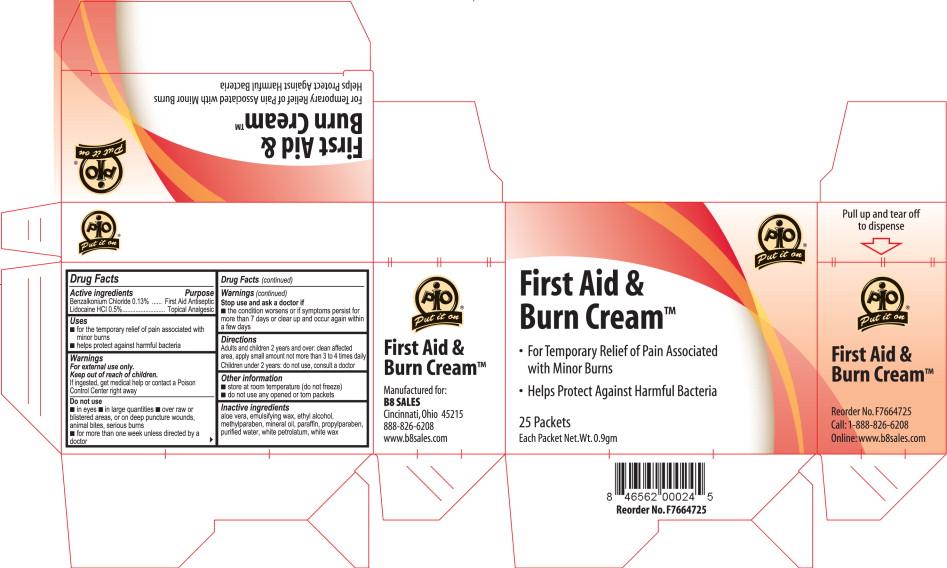 First Aid & Burn Cream – Carton Label