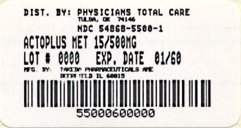 PRINCIPAL DISPLAY PANEL 15 mg / 500 mg 60 Tablet Bottle