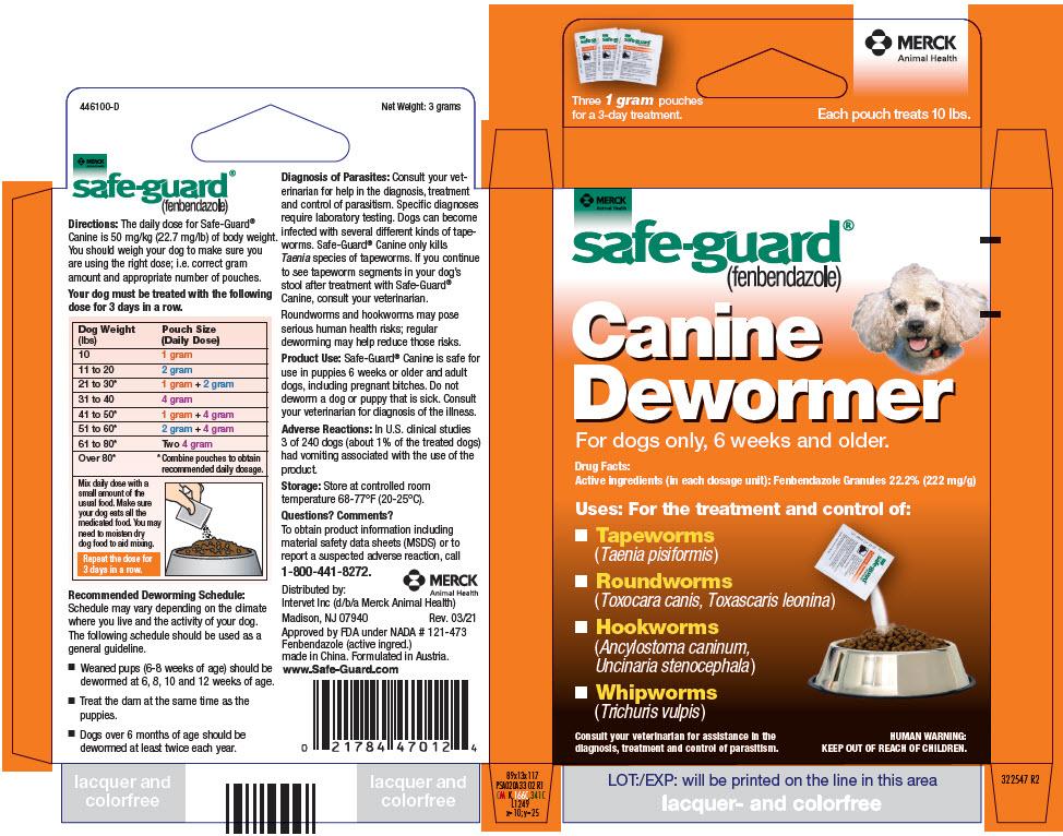 Safe-guard (Fenbendazole) Granule [Merck Sharp & Dohme Corp.]