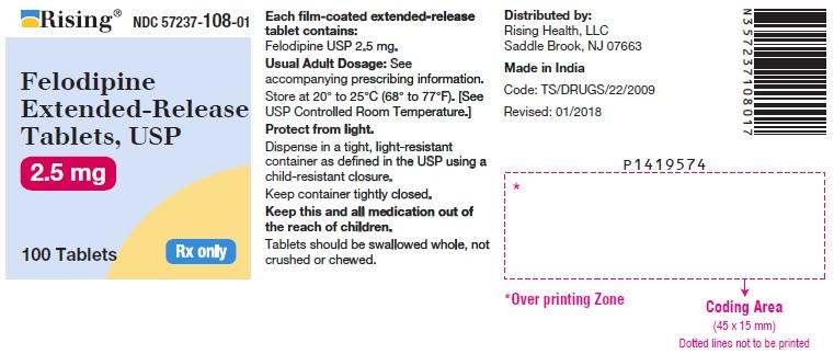 Felodipine Tablet, Film Coated, Extended Release [Citron Pharma Llc]