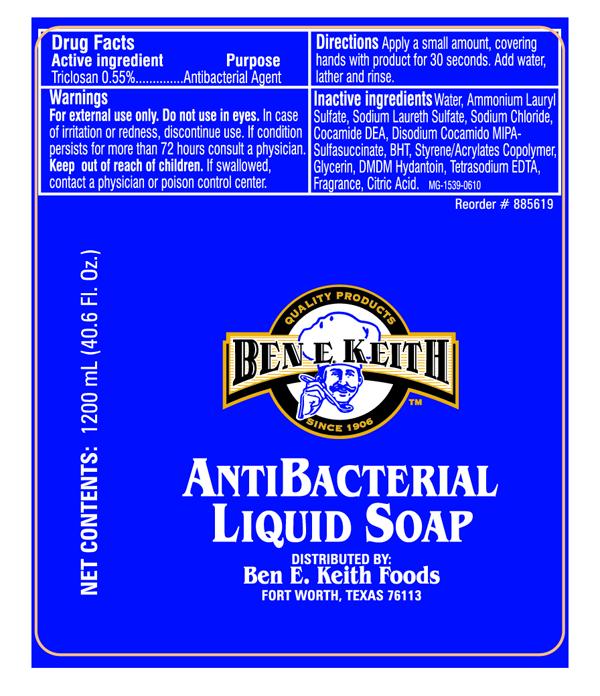 Ben E. Keith 1200 mL bottle label