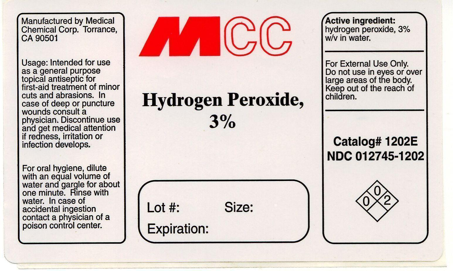 Hydrogen Peroxide Liquid [Medical Chemical Corporation]