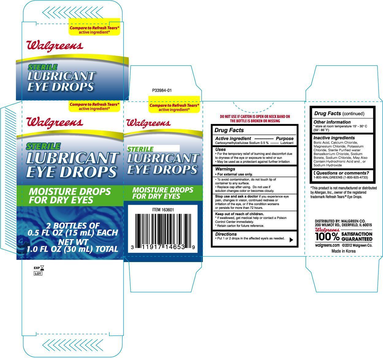 Walgreens Lubricant Eye (Carboxymethylcellulose Sodium) Solution [Walgreen Company]