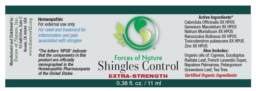Shingles Control (Calendula Officinalis Flowering Top, Geranium Maculatum Root, Sodium Chloride, Ranunculus Bulbosus, Toxicodendron Pubescens Leaf, And Zinc) Solution/ Drops [Forces Of Nature]