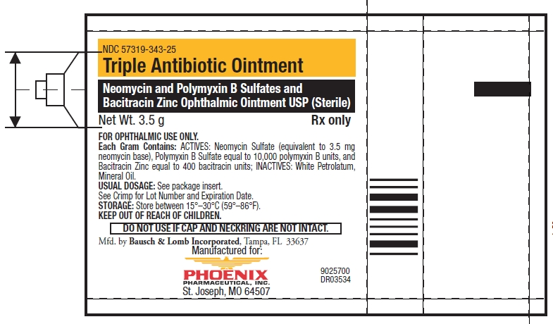 Triple Antibiotic (Neomycin Sulfate, Polymyxin B Sulfate And Bacitracin Zinc) Ointment [Phoenix Pharmaceutical, Inc.]
