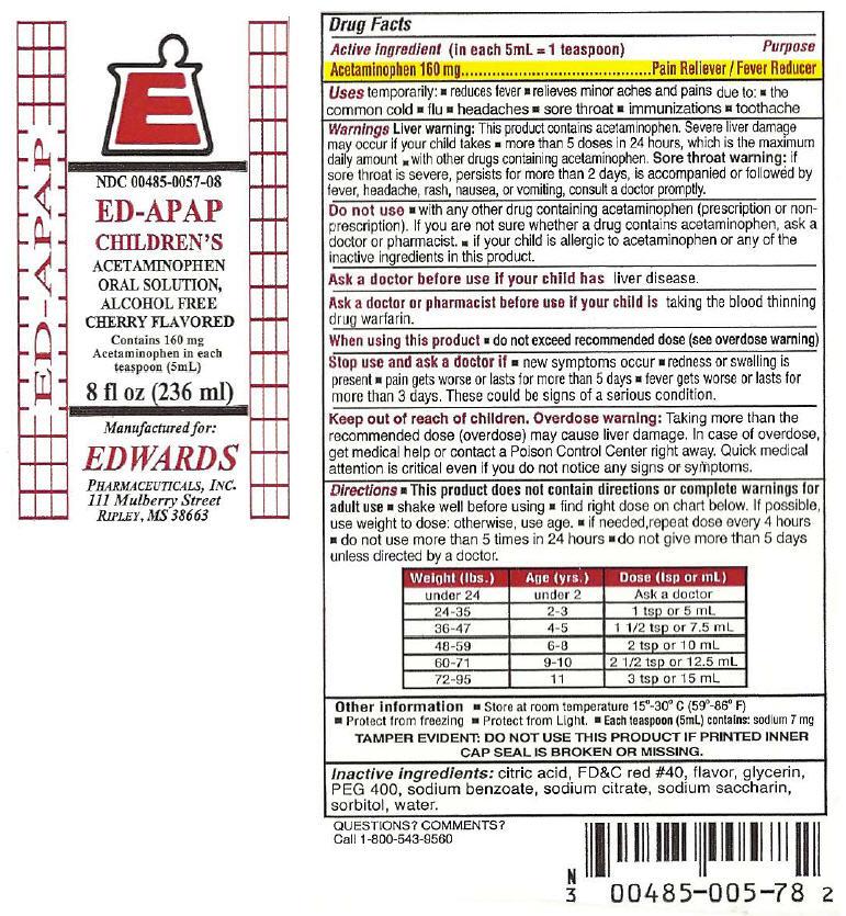 Ed Apap (Acetaminophen) Liquid [Edwards Pharmaceuticals, Inc.]