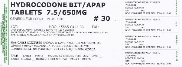 Hydrocodone Bitartrate And Acetaminophen Tablet [Medsource Pharmaceuticals]