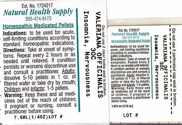 Insomnia Nervousness (Valerian) Pellet [Natural Health Supply]