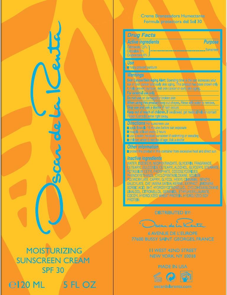 Oscar De La Renta Moisturizing Sunscreen Spf 30 (Octinoxate, Octisalate, Oxybenzone) Cream [Oscar De La Renta Llc]