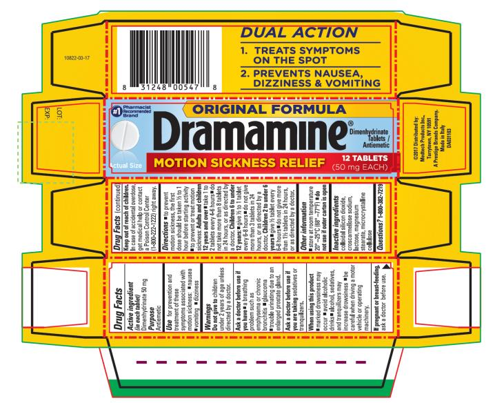 Dramamine Original Formula (Dimenhydrinate) Tablet [Medtech Products Inc.]