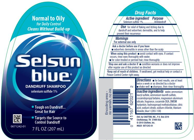 PRINCIPAL DISPLAY PANEL Normal to Oily Selsun blue® DANDRUFF SHAMPOO selenium sulfide 1% 7 FL OZ (207 mL)