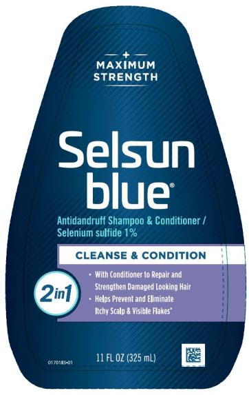PRINCIPAL DISPLAY PANEL Medicated Selsun blue® DANDRUFF SHAMPOO selenium sulfide 1% 7 FL OZ (207 mL)