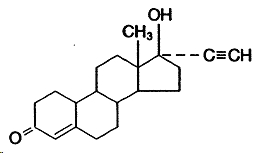 Norethindrone structural formula