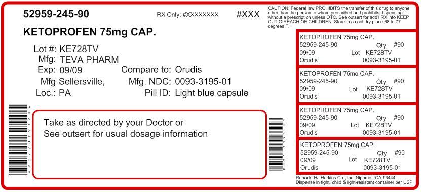 Ketoprofen Capsules 50 mg 100s Label
