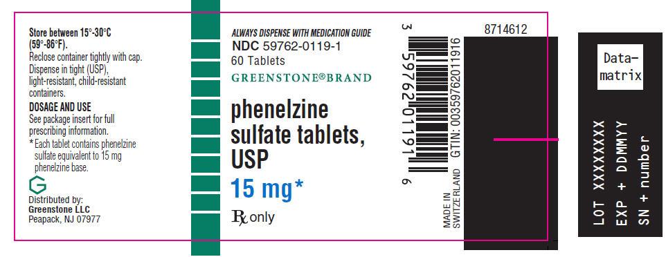 Phenelzine Sulfate Tablet, Film Coated [Greenstone Llc]