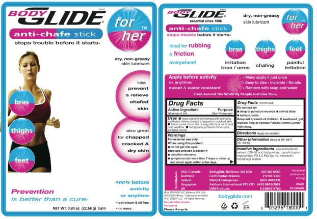 Bodyglide For Her (Allantoin) Stick [W Sternoff Llc]