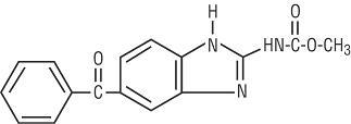 mebendazole structural formula