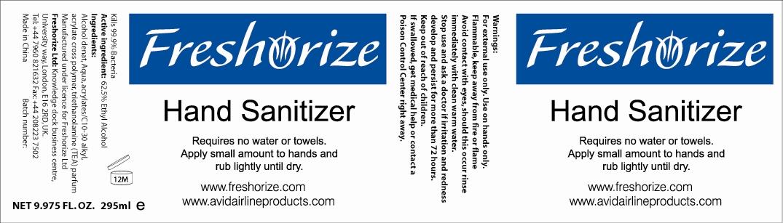 Freshorize Hand Sanitizer (Alcohol) Lotion [Freshorize, Ltd.]