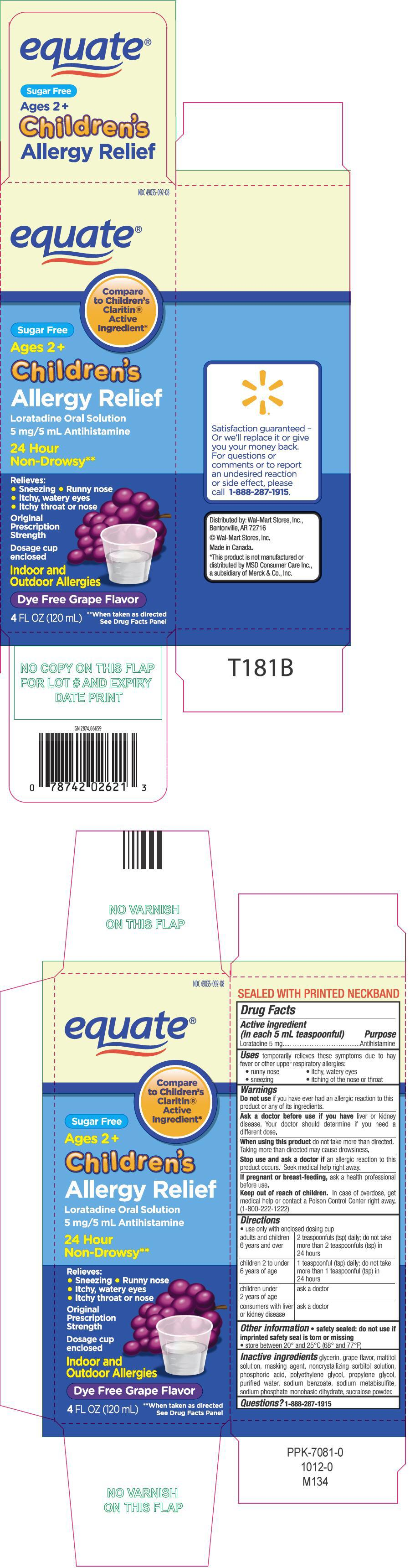 Equate Childrens Allergy Relief (Loratadine) Solution [Wal-mart Stores Inc]