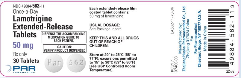 Lamotrigine ER Tablets 50 mg Label