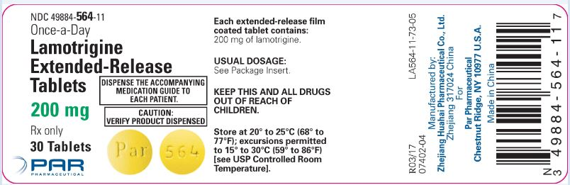 Lamotrigine ER Tablets 200 mg Label