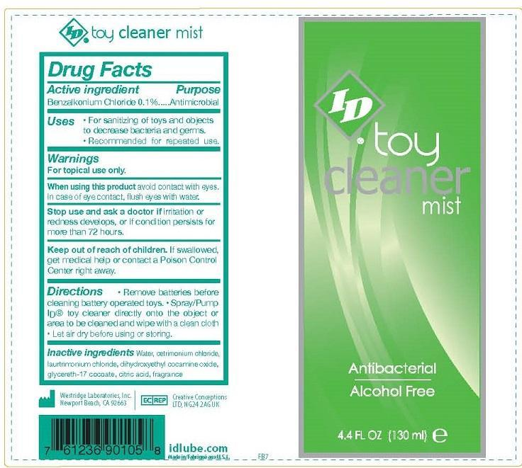 Toy Cleaner Mist Antibacterial (Benzalkonium Chloride) Spray [Westridge Laboratories Inc]