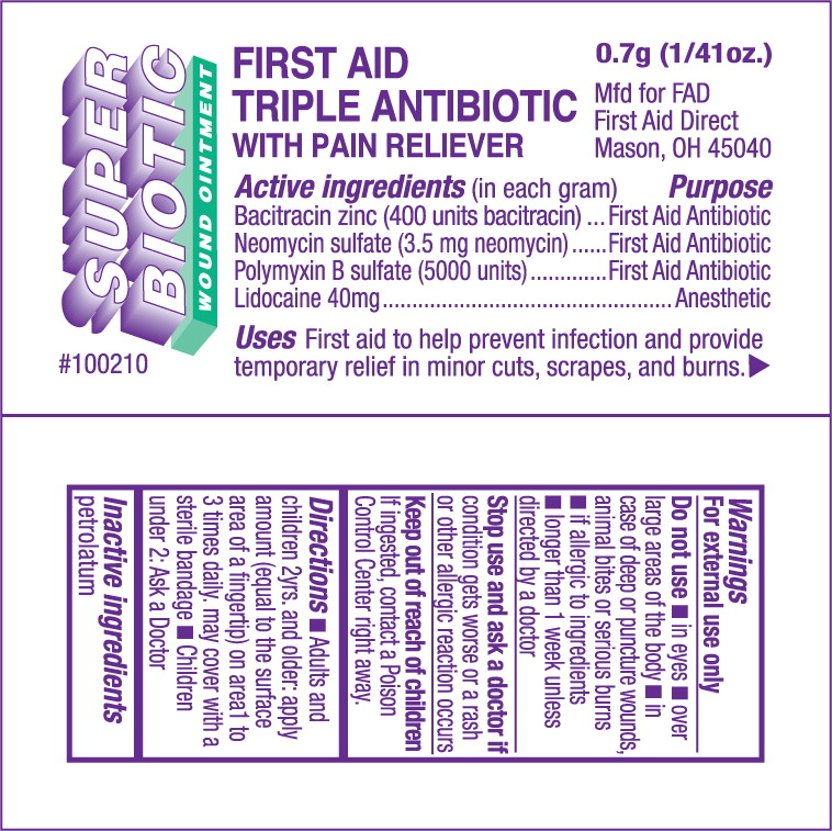 First Aid Triple Antibiotic With Pain Reliever (Bacitracin Zinc, Neomycin Sulfate, Polymyxin B Sulfate, Lidocaine) Ointment [Cintas First Aid & Safety]